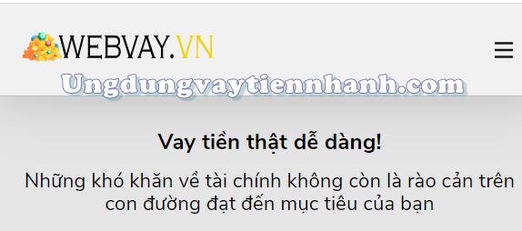 Webvay.vn cung cấp khoản vay tốt nhất hiện nay