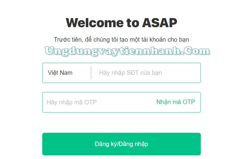 Vay tiền online tại Asap