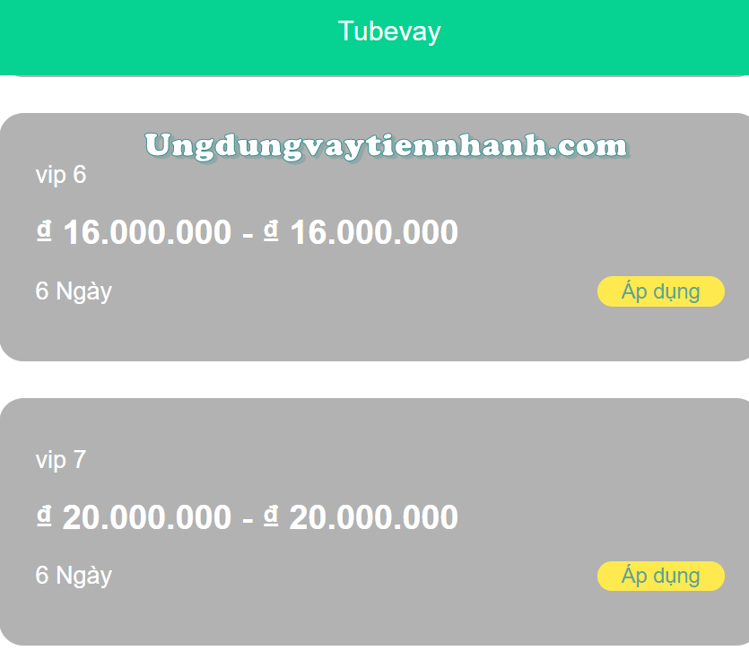 webapp vay tiền tubevay