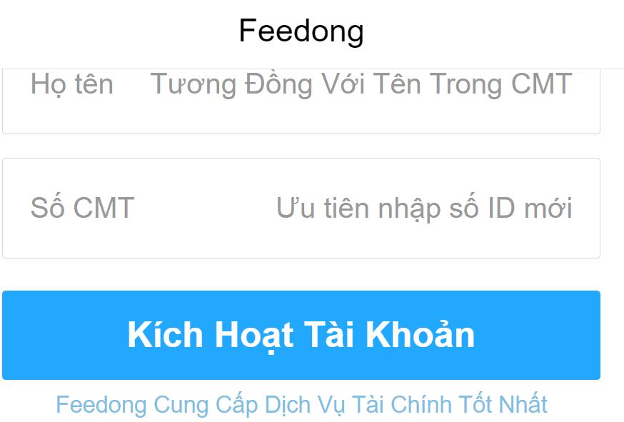 Dịch vụ vay tiền fee dong